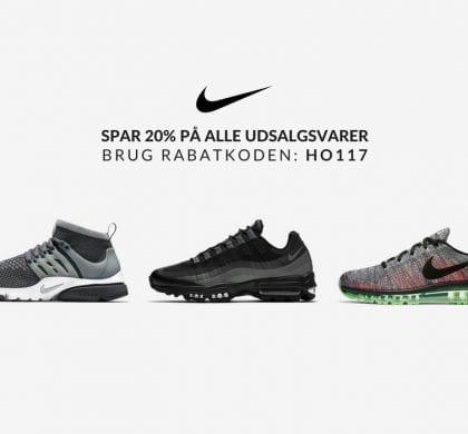 Nike Rabatkode | Spar 20% | De bedste deals