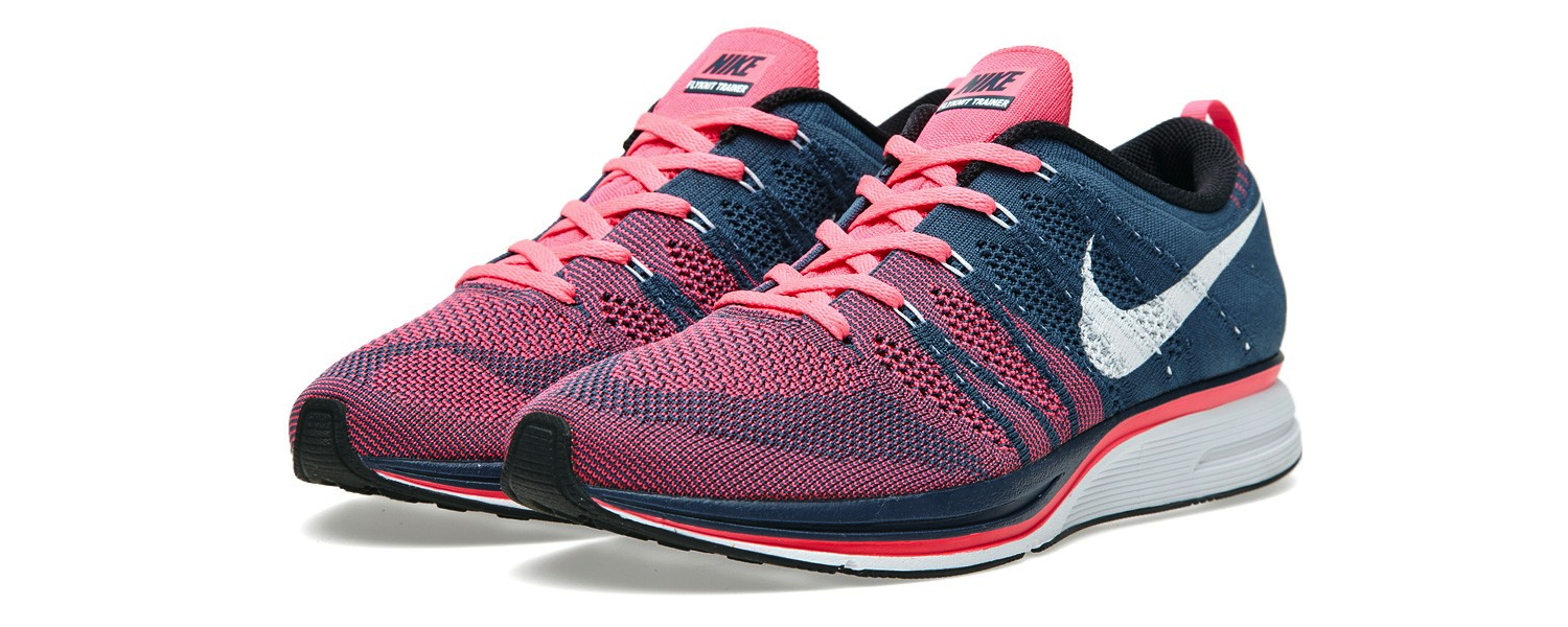 Nike Flyknit Trainer + Squadron Blue & Pink