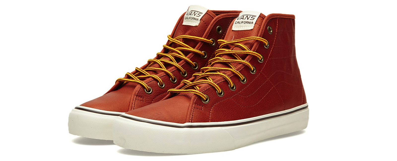 Vans California Sk8-Hi Binding CA Leather Henna