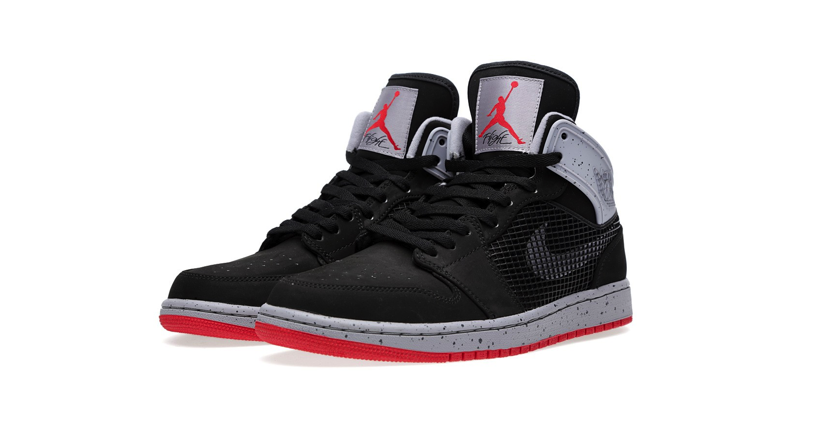 Nike Air Jordan 1 Retro 89 Black, Fire Red and Cement Grey