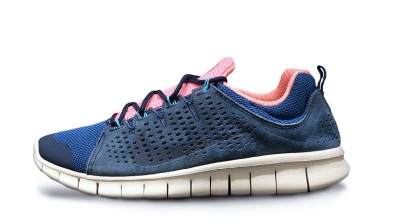 Nike Free Powerlines II LTR Brave Blue and Atomic Pink