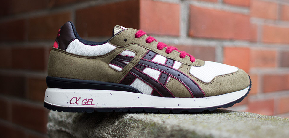 Asics GT-II Olive and Dark Brown