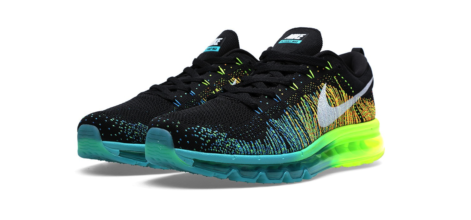 Nike Flyknit Max Black, White and Turbo Green