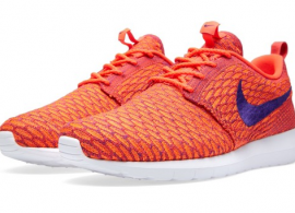 Nike Flyknit Roshe Run Bright Crimson