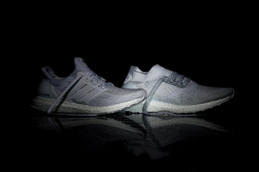 adidas ultra boost uncaged hvid reflective sneakerworld