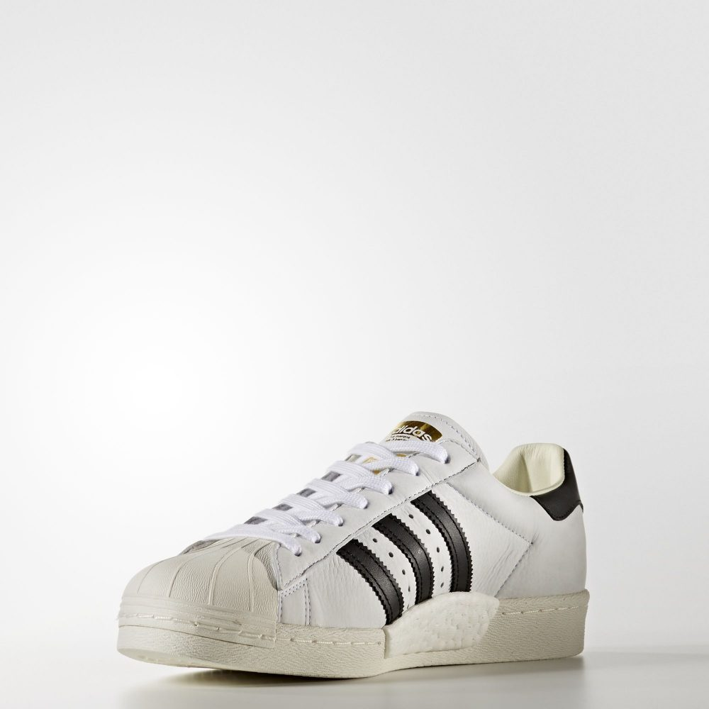 Adidas Superstar Boost White Black 1