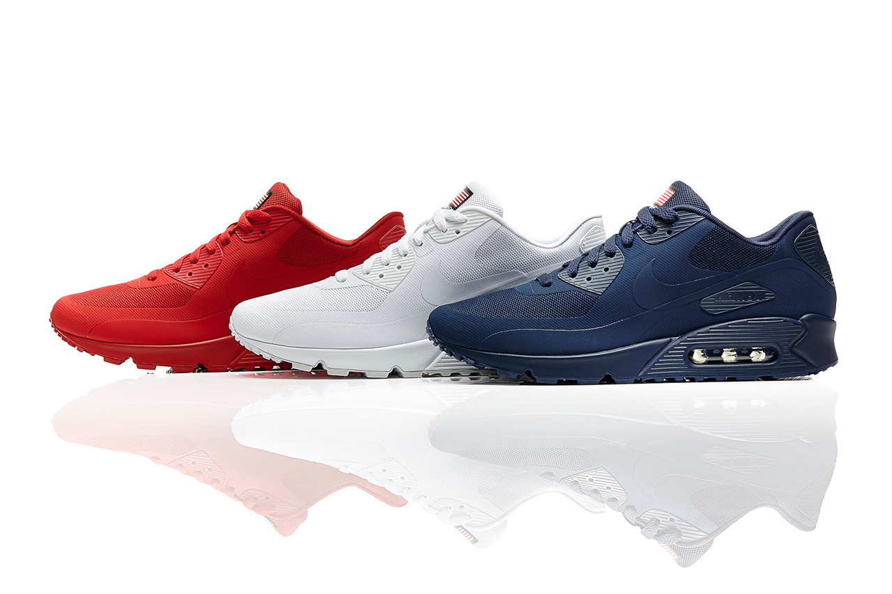 nike air max 90 independence day rød hyperfuse