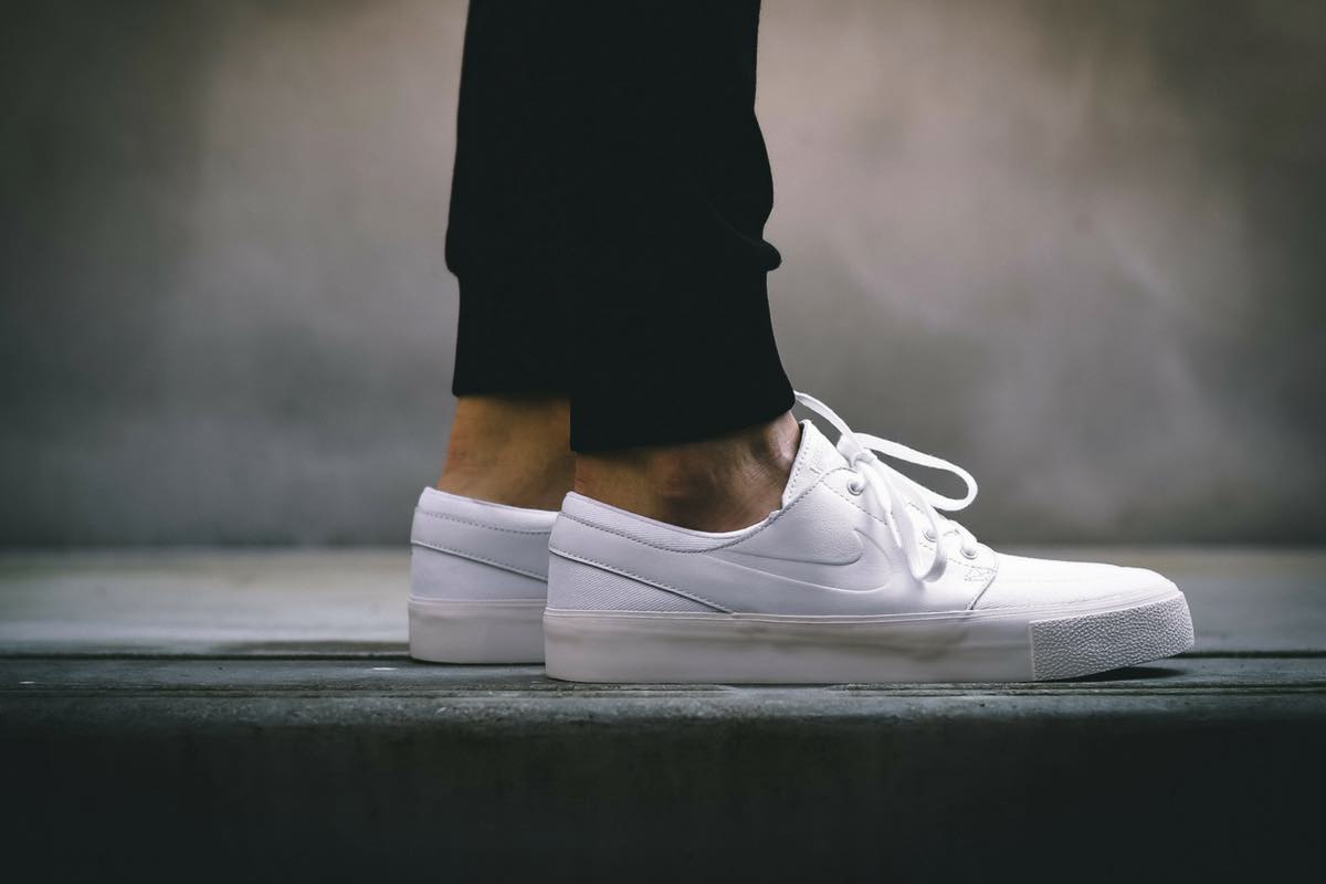 On Feet | Nike SB Zoom Stefan Janoski Elite HT White Sail