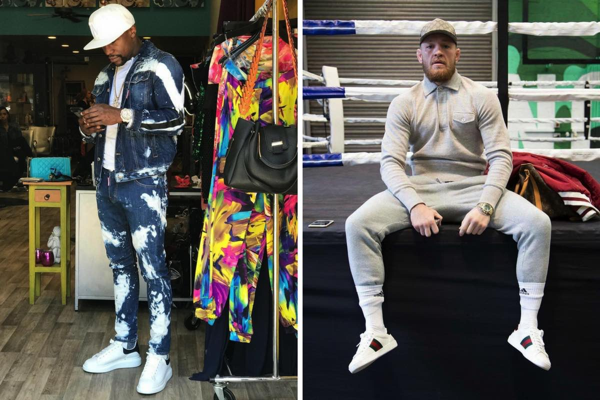 Sneaker battle: Floyd Mayweather vs Conor McGregor