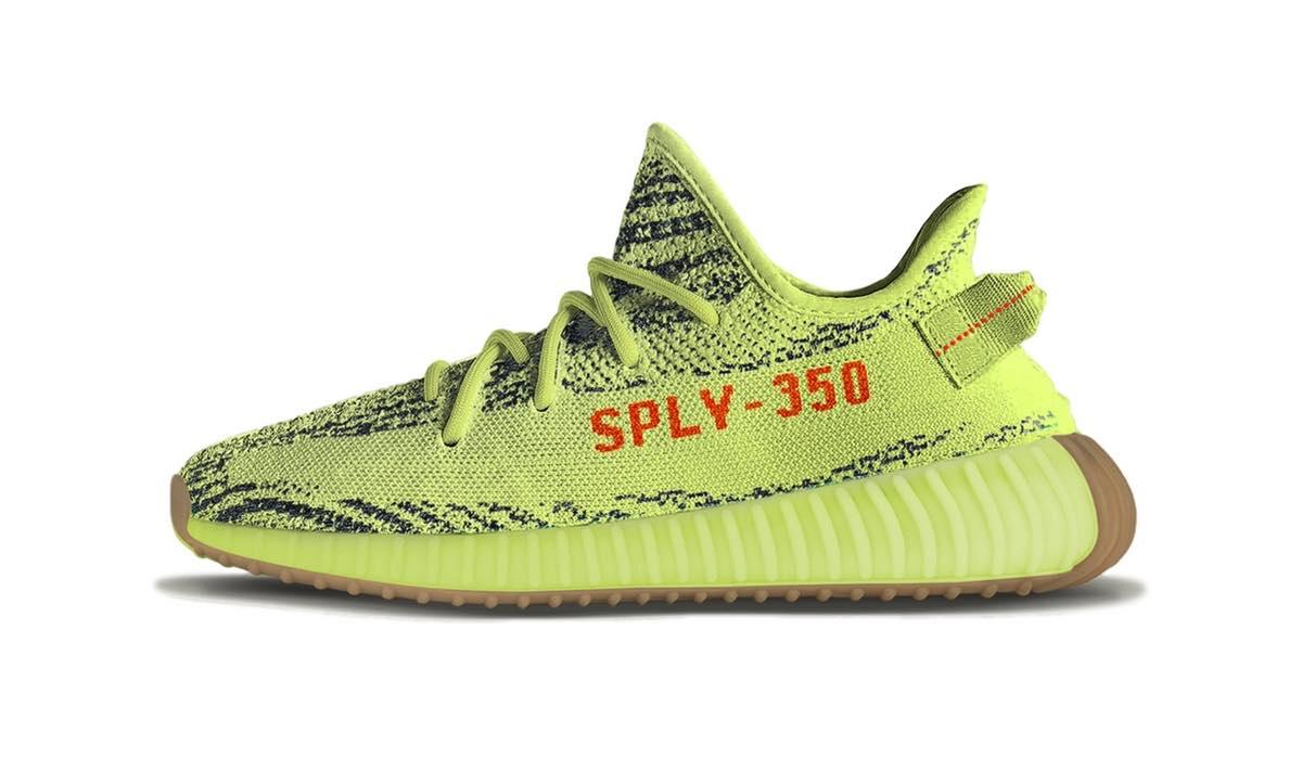 Release Yeezy Boost 350 V2 Semi Frozen Yellow
