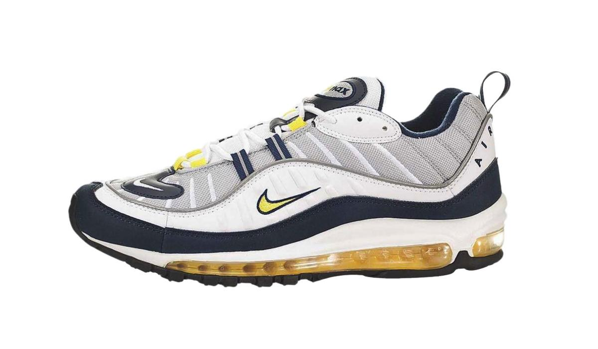 "Release | Nike Air Max 98 ""Tour YellowMidnight Navy"