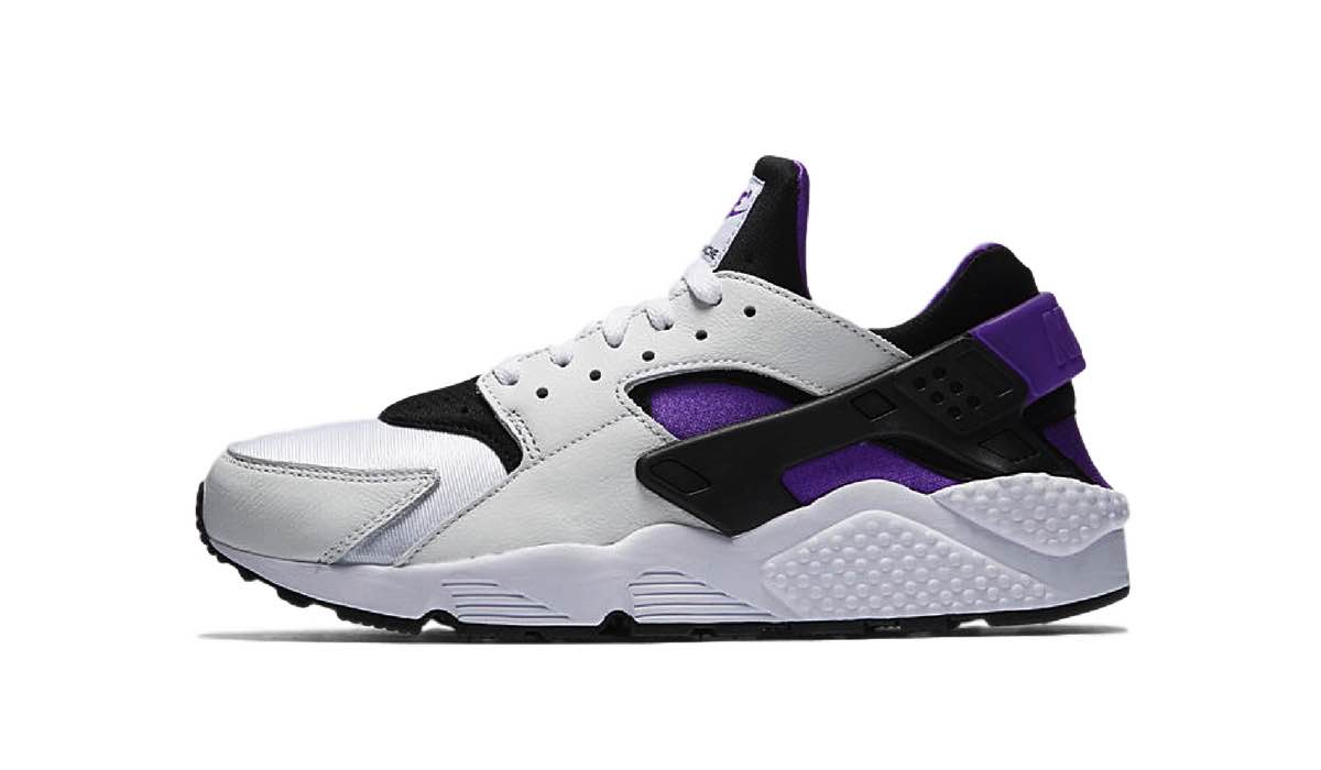 """Nike Air Huarache Run 91 """"White/Purple Punch"""""""