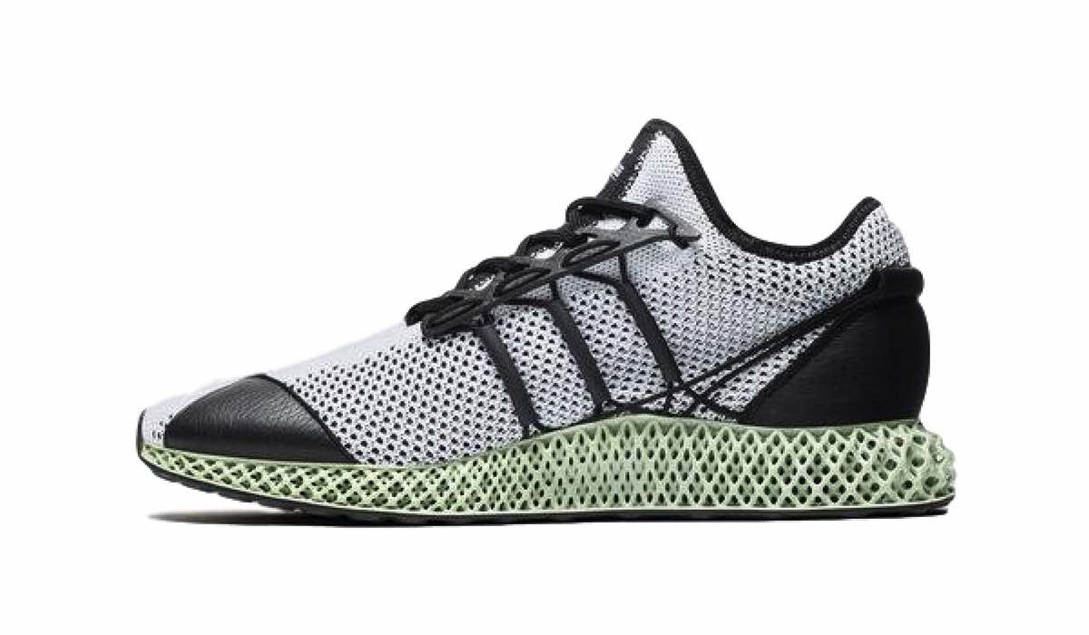 "40beaa62a Y-3 Runner 4D ""Core Black White"""