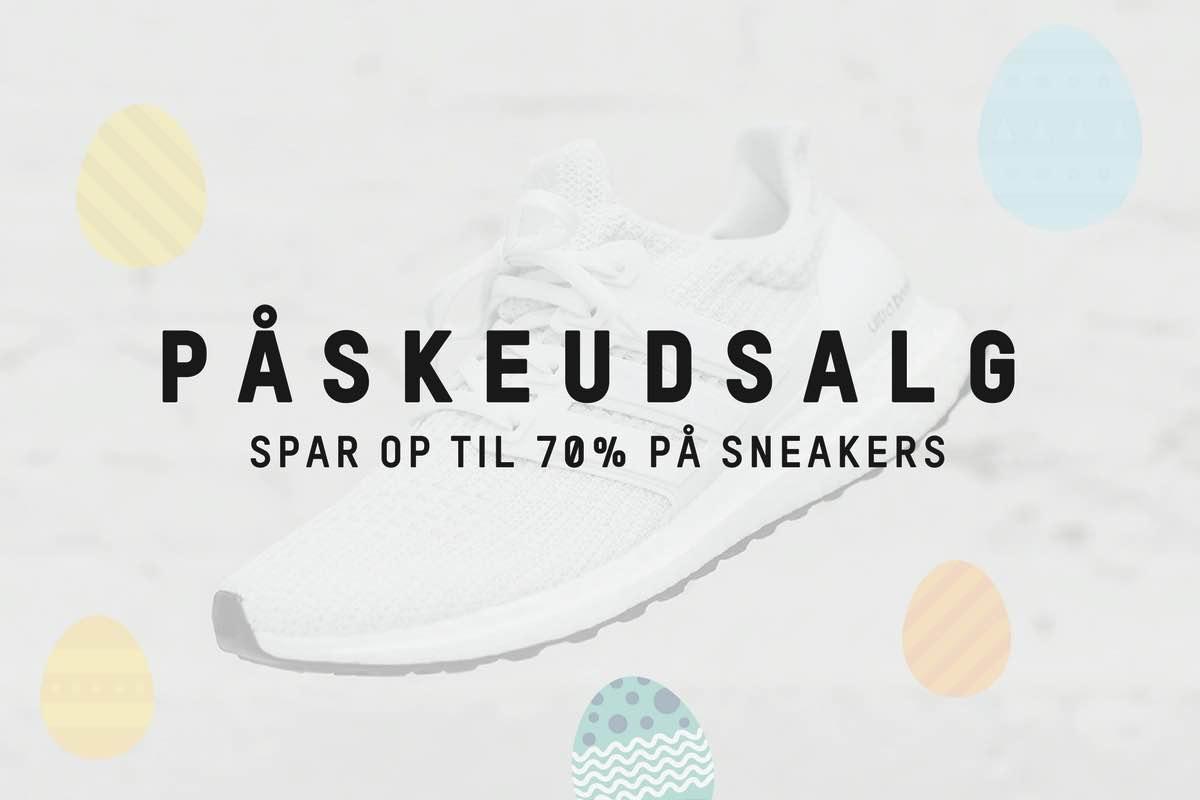 Spar op til 70% på sneakers i Påsken