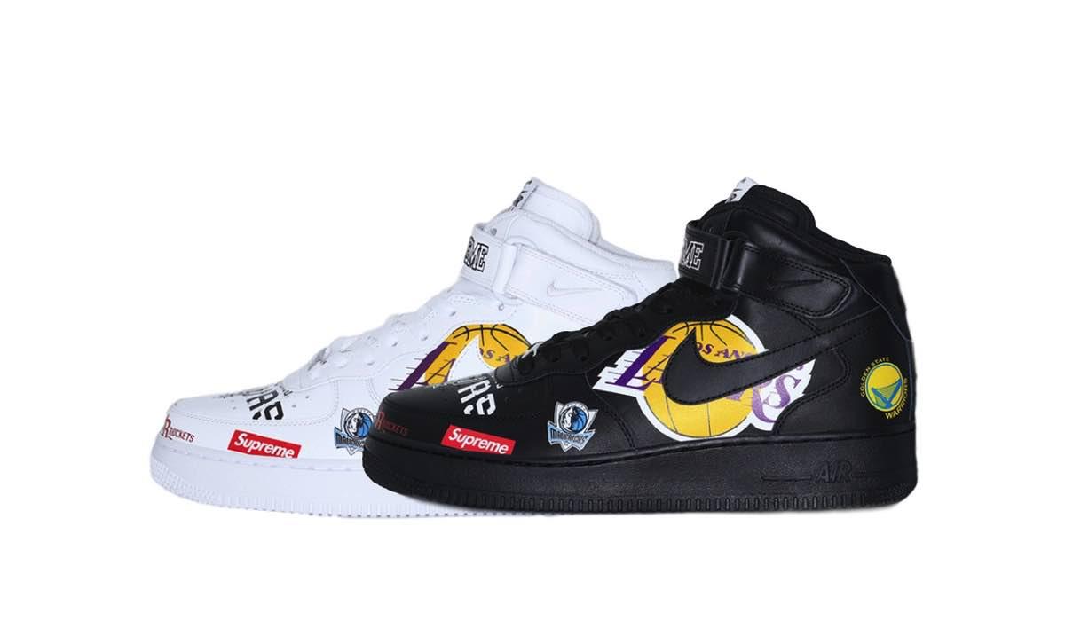 Supreme X Nike Air Force 1 NBA Review!