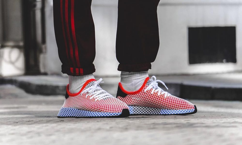 adidas Deerupt Runner Solar Red On Feet CQ2624-3-kopi