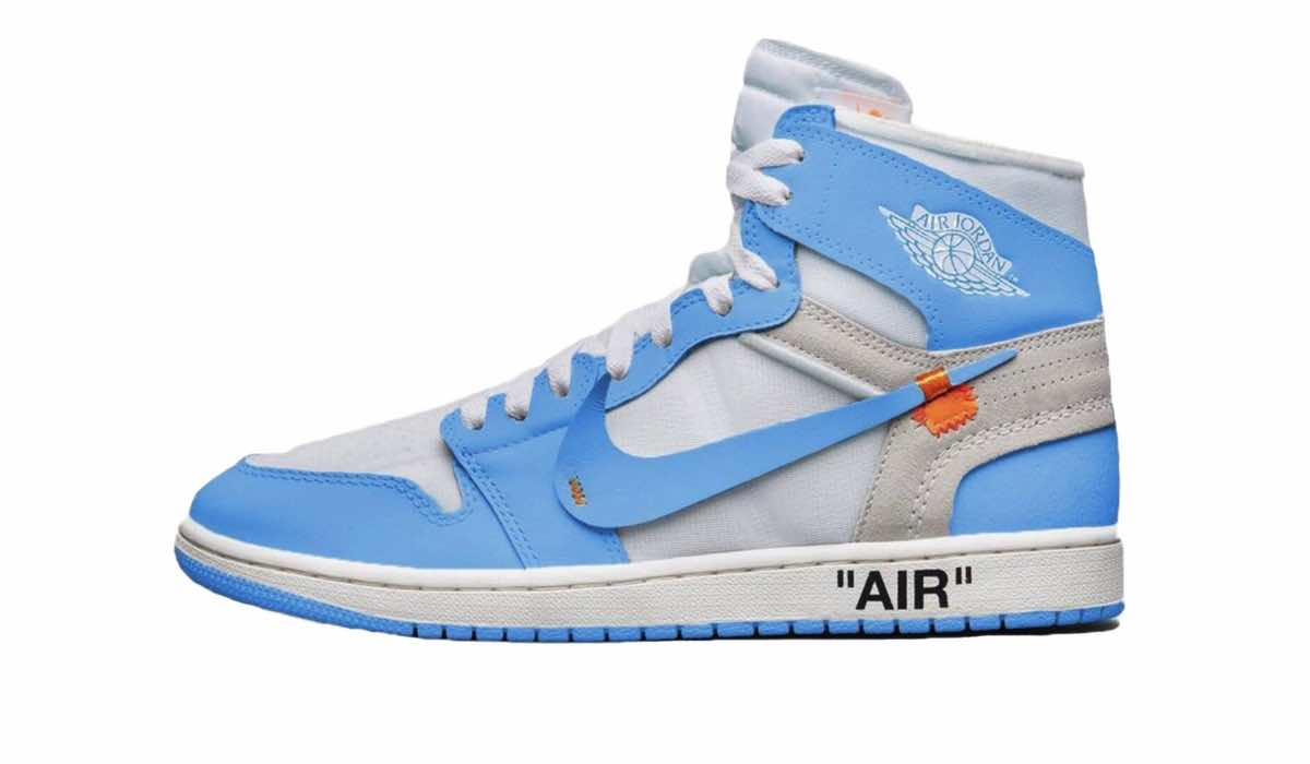 "OFF-WHITE x Air Jordan 1 ""UNC Blue""  78aad8c8b"