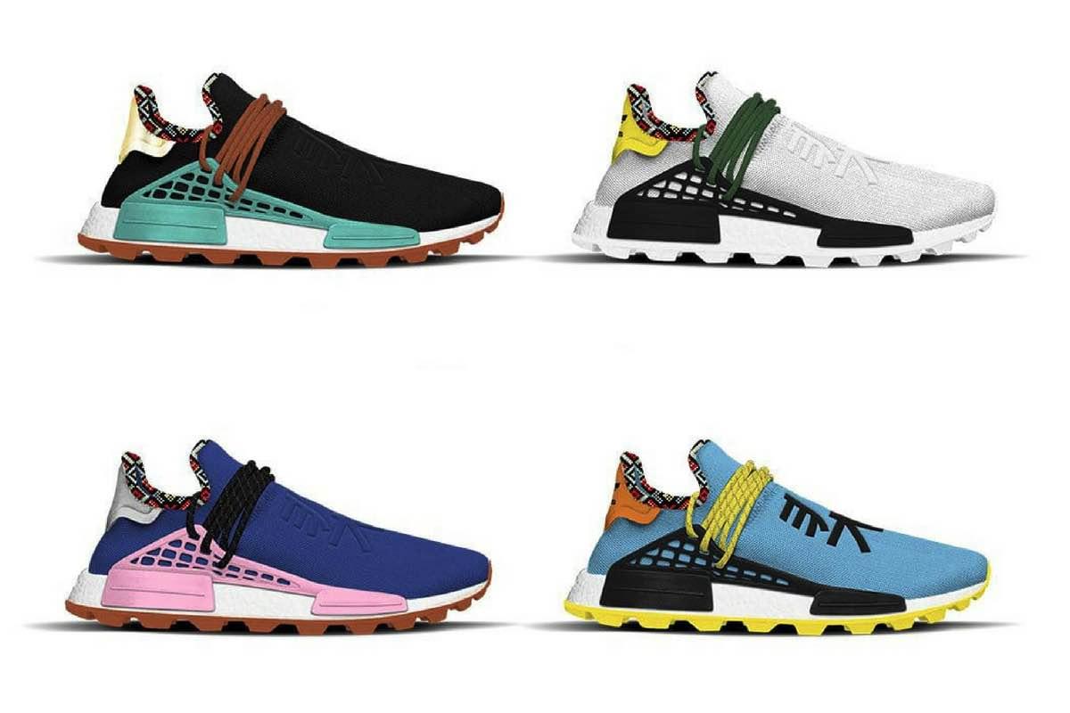 Fire nye Pharrell x adidas NMD Hu sneakers er på vej