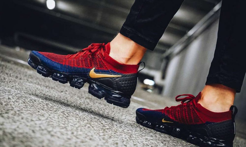 Nike Air Vapormax Flyknit 2 Team Red Obsidian 942842-604