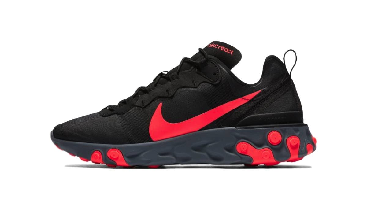 "Nike React Element 55 ""Black/Solar Red"""