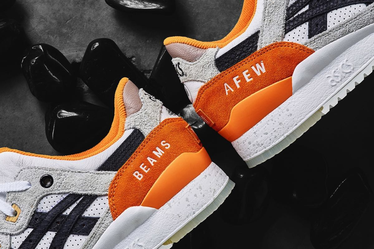"Close Up | Afew x BEAMS x Asics GEL Lyte 3 ""Orange Koi"""