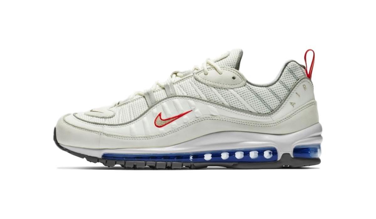 "Nike Air Max 98 ""Summit White/University Red"""