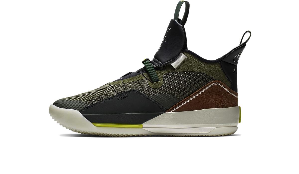 """Travis Scott x Nike Air Jordan 33 """"Army Olive"""""""