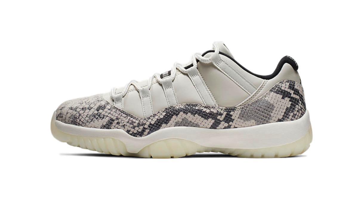 "Nike Air Jordan 11 Low Snakeskin ""Light Bone"""