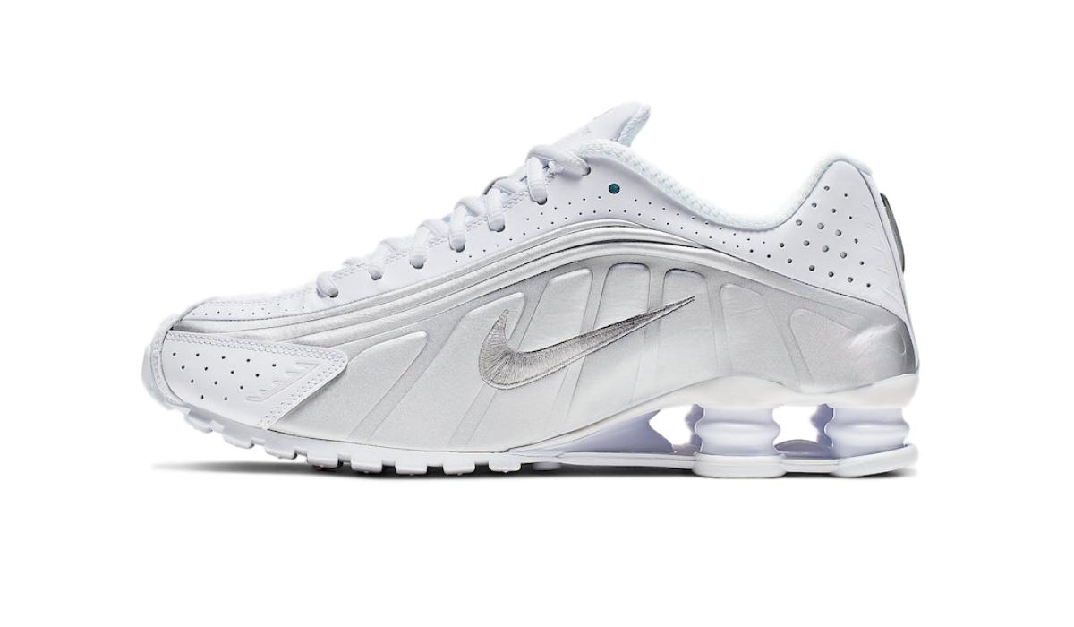 "Nike Shox R4 ""White/Metallic Silver"""