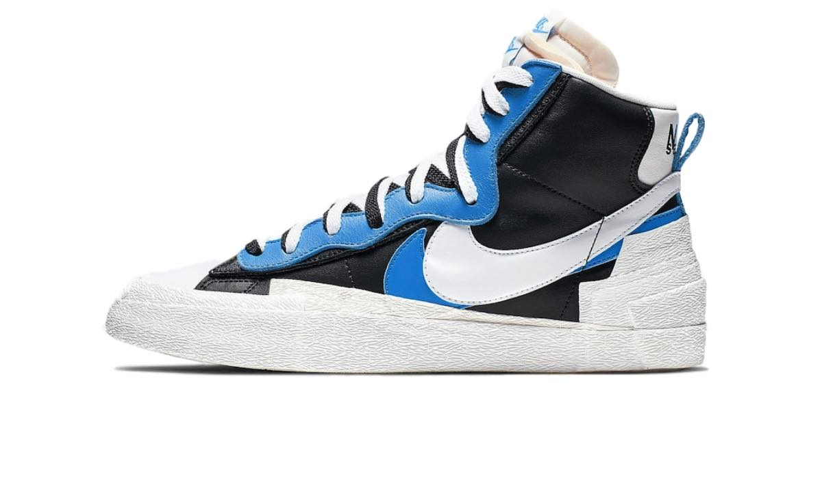 "Sacai x Nike Blazer Mid ""Black/Blue"""