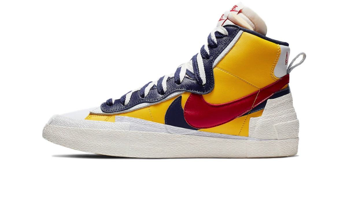 "Sacai x Nike Blazer Mid ""Yellow/Blue"""