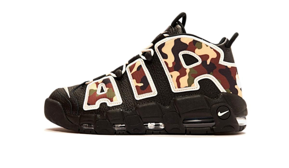 "Nike Air More Uptempo ""Black/Camo"""