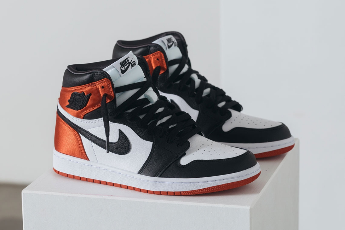 "Air Jordan 1 ""Satin Black Toe"" lander til august"