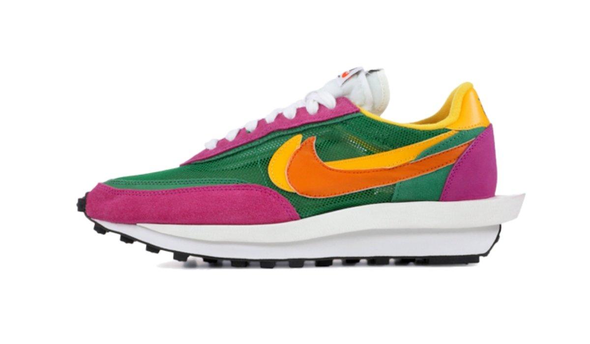 "Sacai x Nike LDV Waffle ""Pink/Green"""