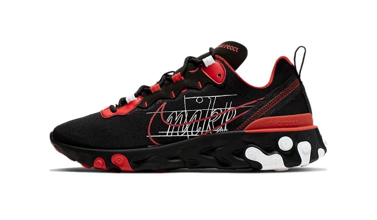 "Nike React Element 55 Sketch ""Black/Red"""