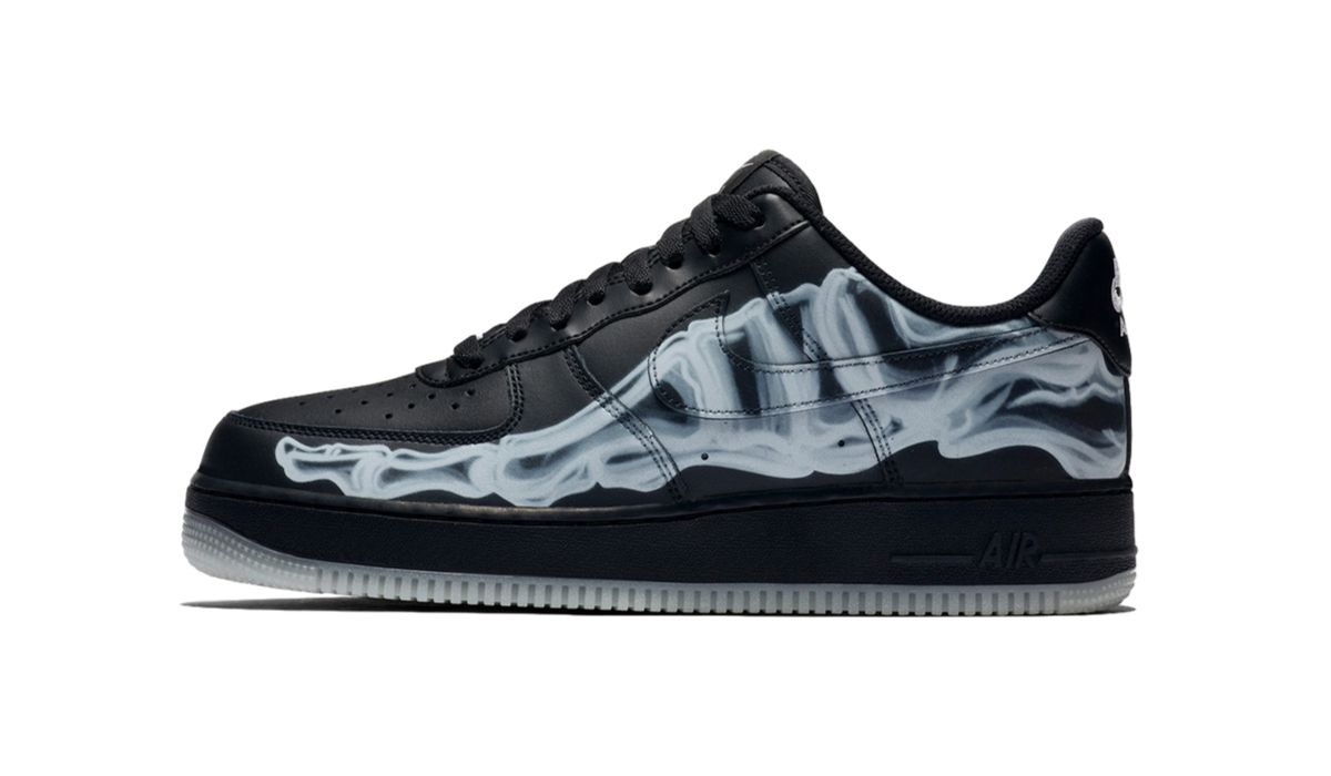 Nike Air Force 1 Skeleton QS Black