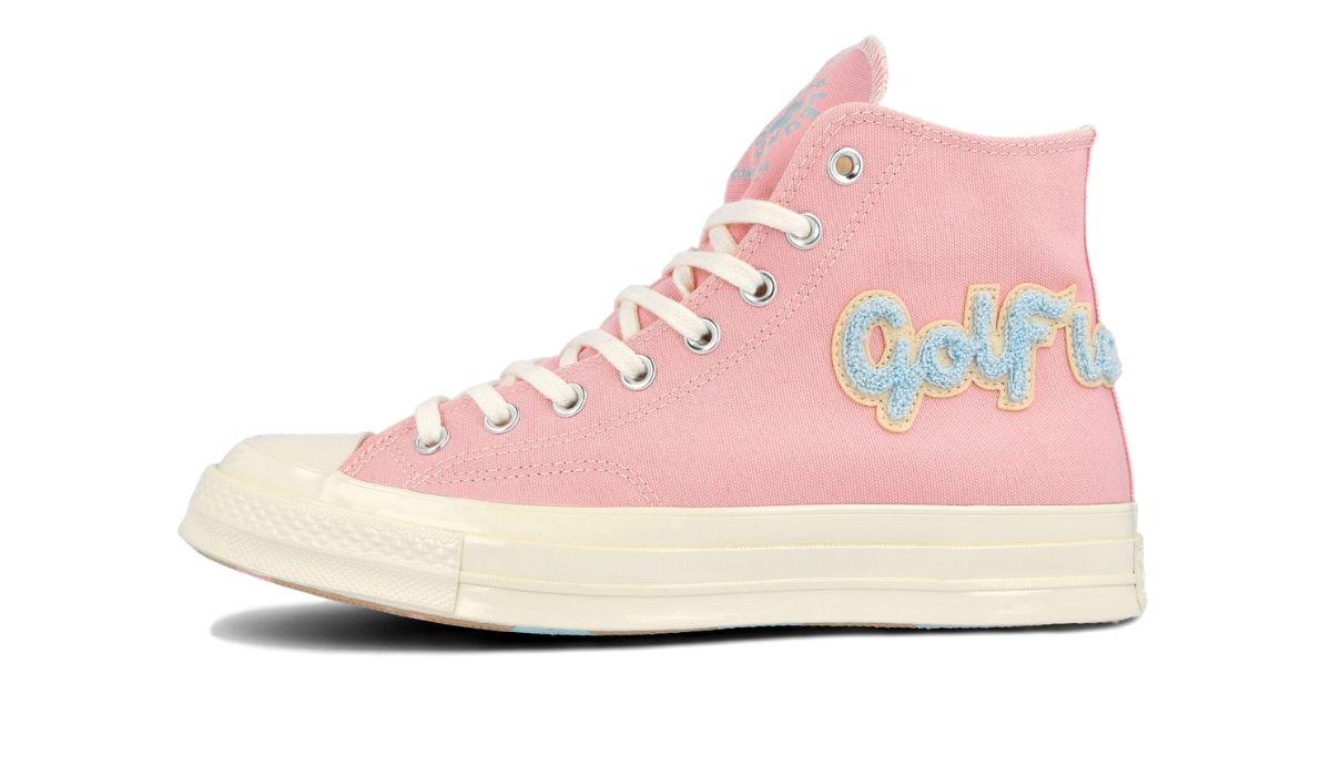 GOLF le FLEUR x Converse Chuck 70 Hi Chenille Pink