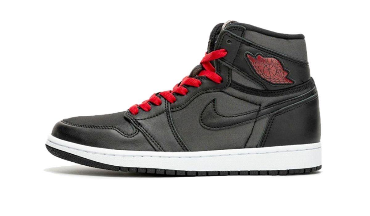 """Nike Air Jordan 1 Satin """"Black/Gym Red"""""""