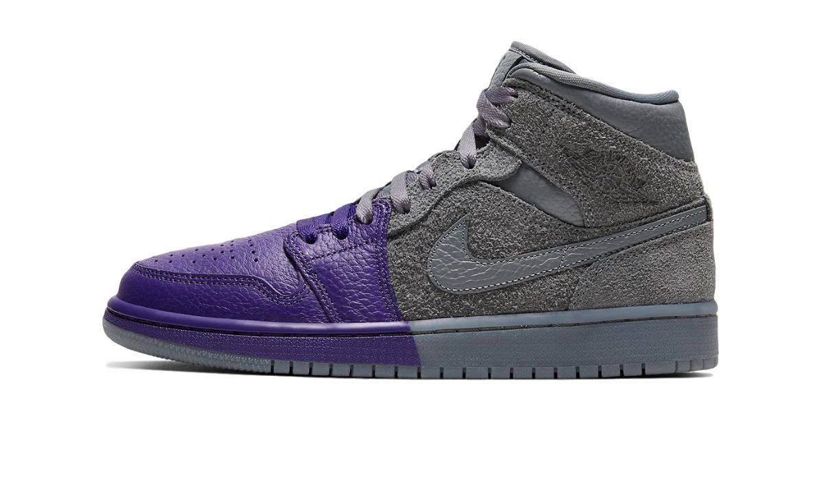 Sheila Rashid x Air Jordan 1 Mid Grey/Purple