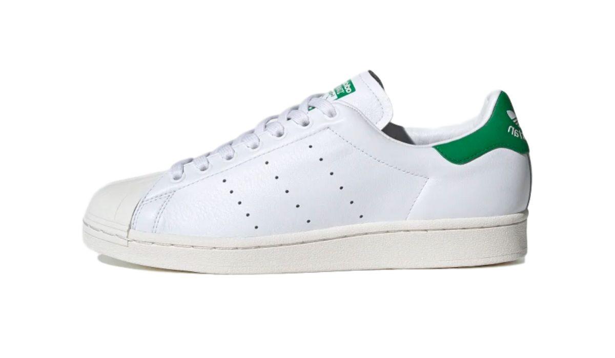 """adidas Superstar """"Superstan"""" White/Green"""