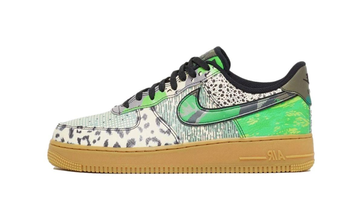 Nike Air Force 270 sort og grønt