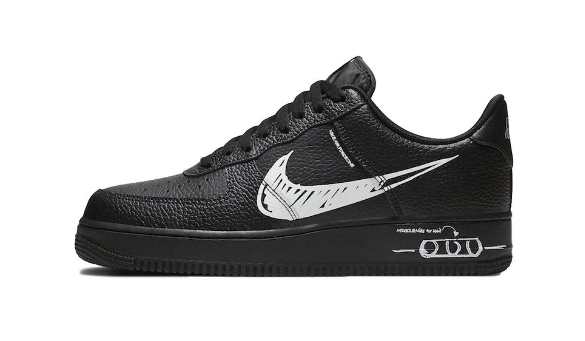 Nike Air Force 1 Low Sketch Black White