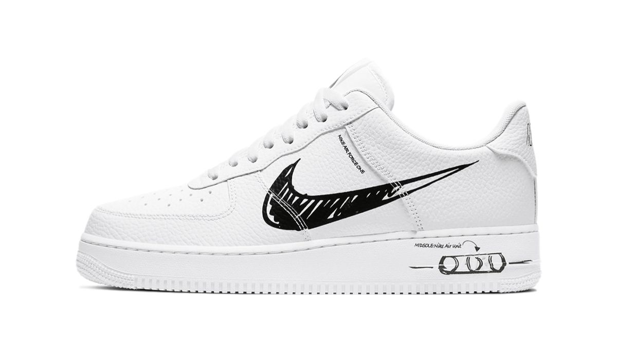 Nike Air Force 1 Low Sketch White Black
