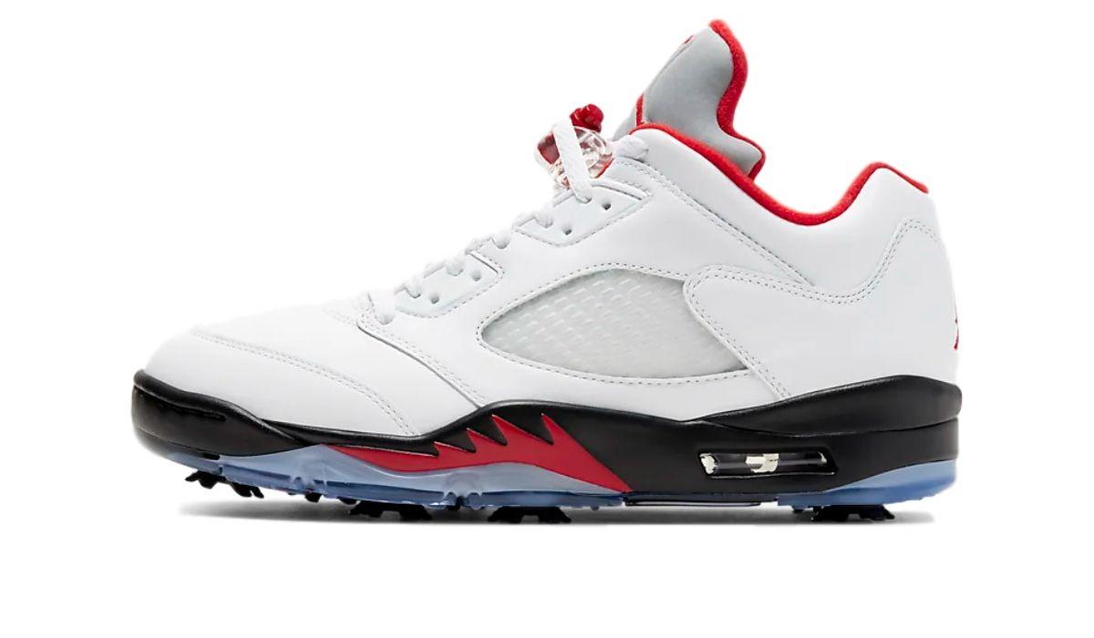 Nike Air Jordan 5 Low Golf White Fire Red