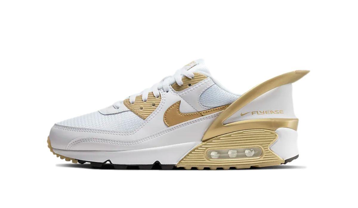 Nike Air Max 90 FlyEase Gold/White