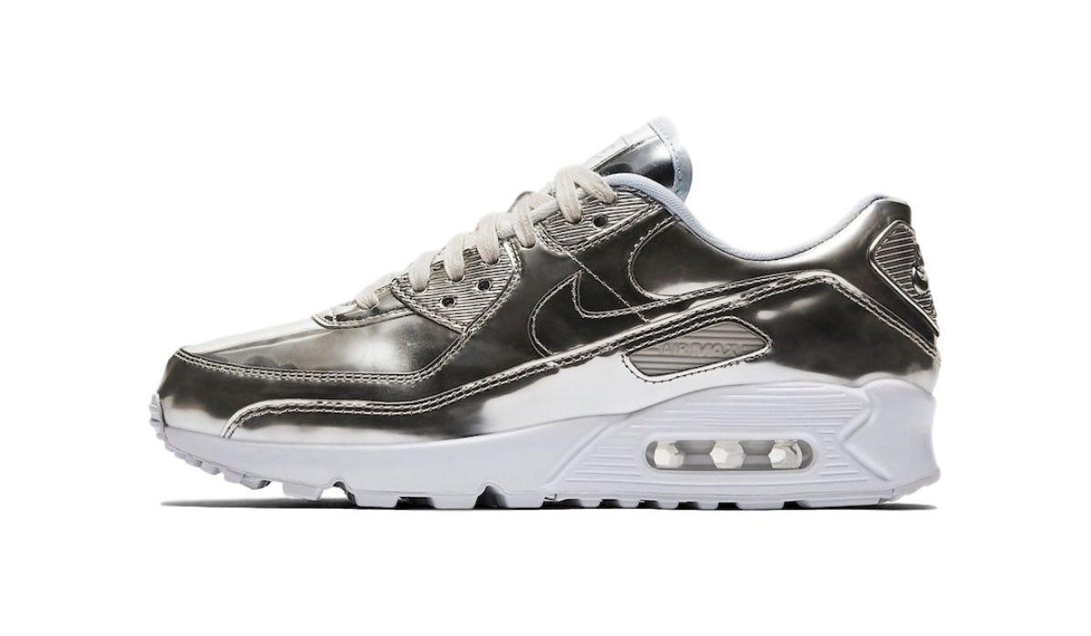 Nike Air Max 90 Liquid Metal Silver Release Cq6639 001