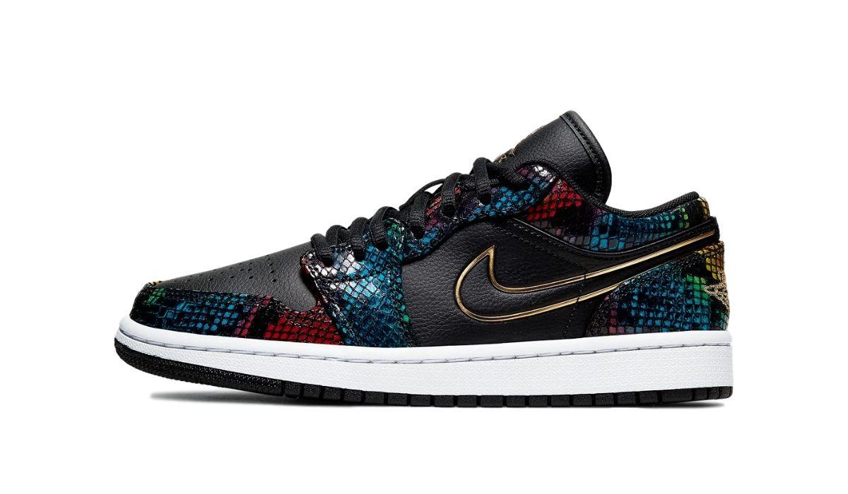 Nike WMNS Air Jordan 1 Low Snakeskin