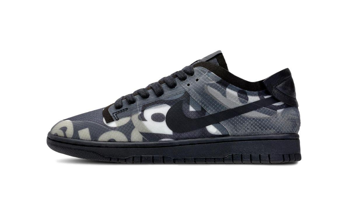 Comme des Garcons x Nike Dunk Low Print Black