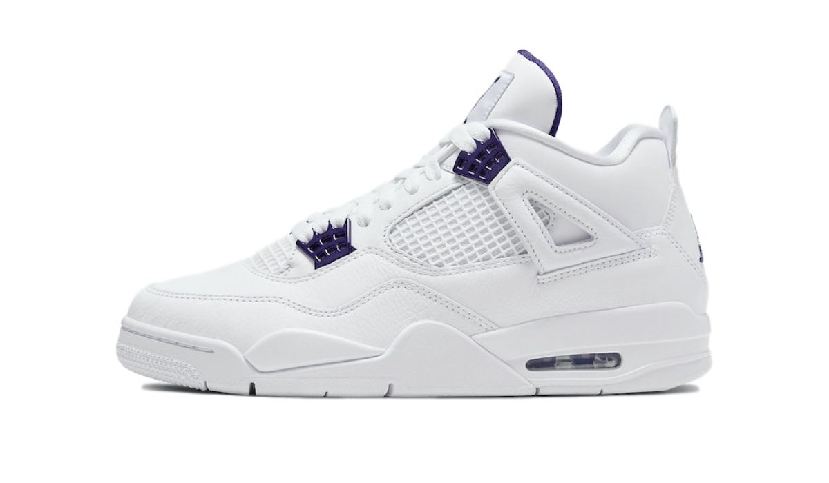 Nike Air Jordan 4 Retro White Court Purple