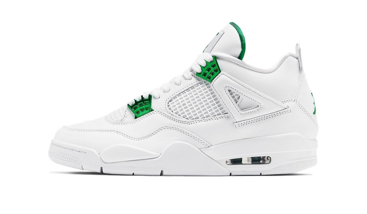 Nike Air Jordan 4 Retro White Metallic Green